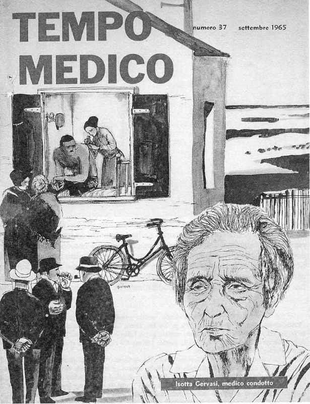 """Isotta Gervasi ritratta da Guido Crepax su """"Tempo Medico"""", 1965"""