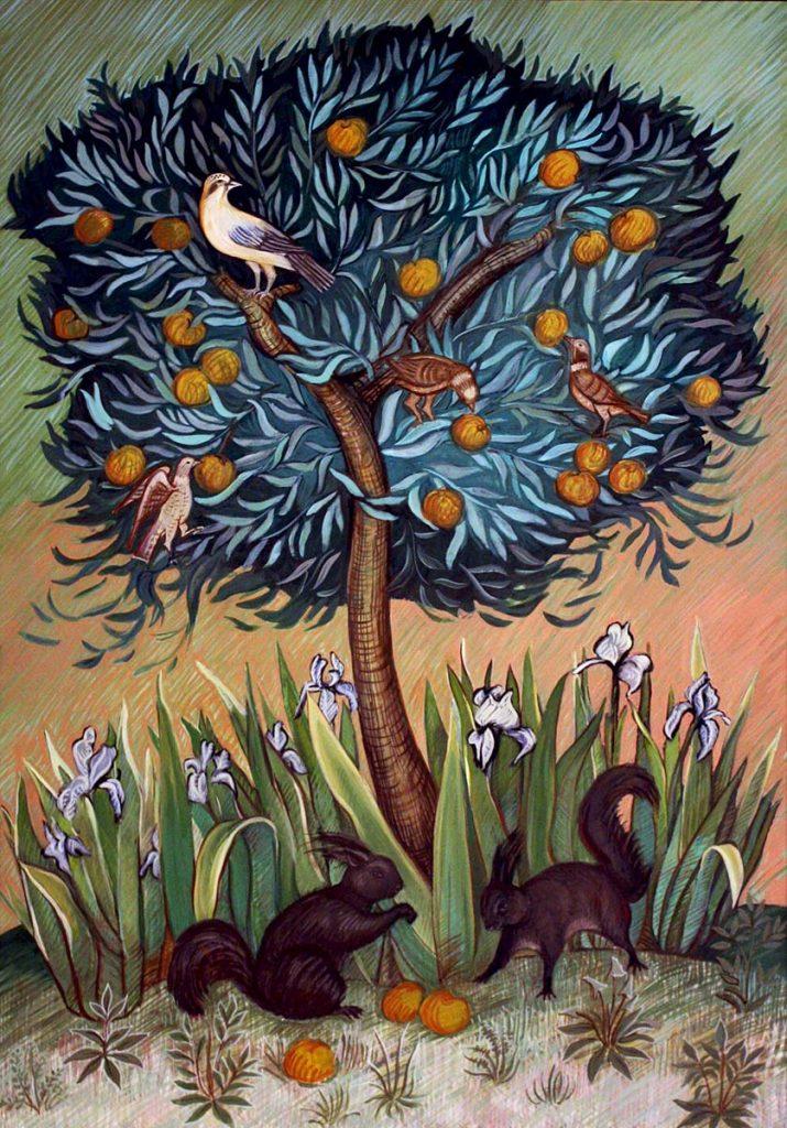 Opera pittorica dell'artista inglese Jennifer Gay Holmes