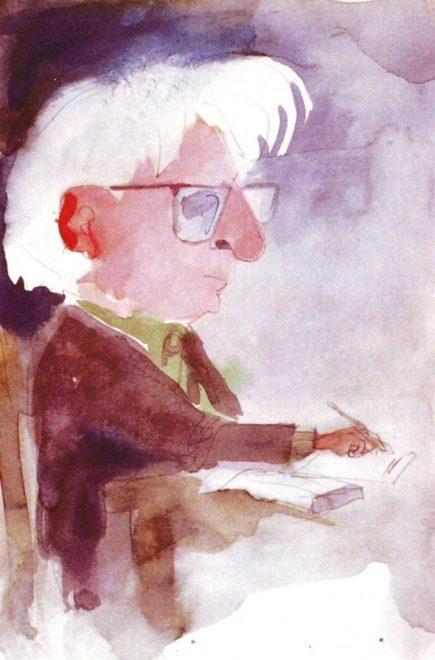 L'autoritratto dell'editore-artista Mauro Lapucci