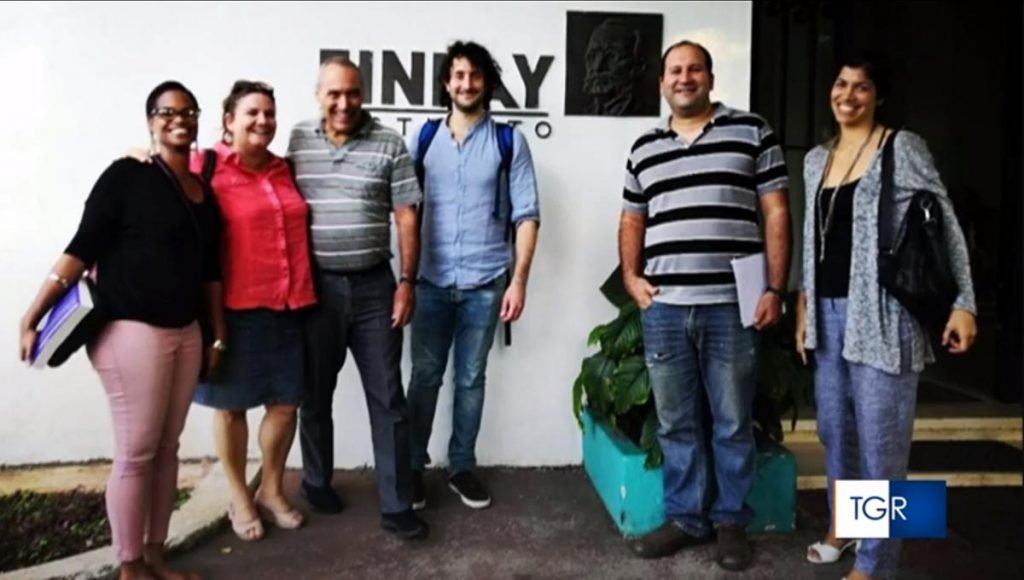 Team ricerca vaccino Soberana con Fabrizio Chiodo