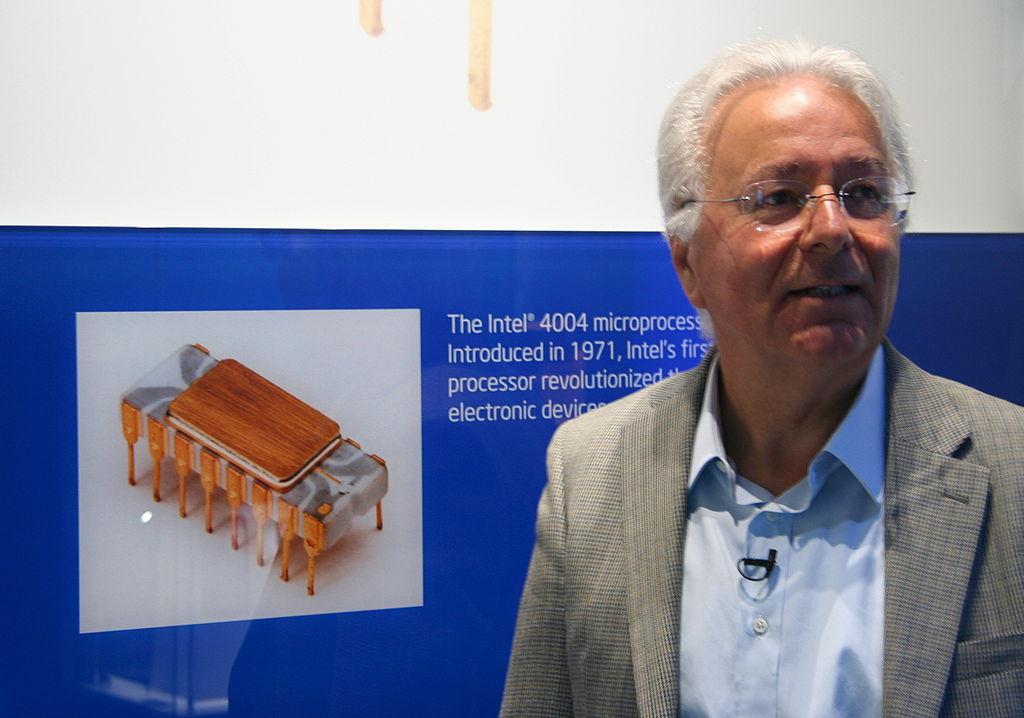 Faggin durante una recente visita alla sede centrale di Intel.