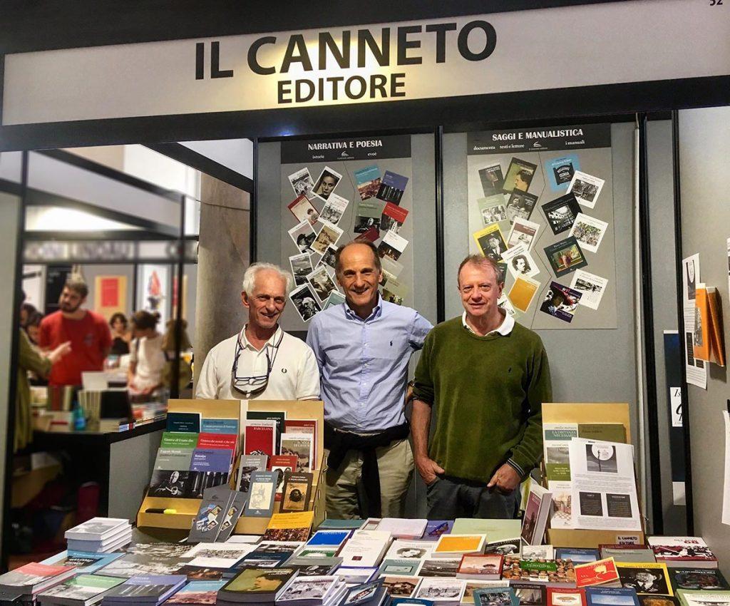 I tre soci della casa editrice Il Canneto: da sinistra, Nicolò De Mari, Giorgio Mosci e Titta D'Aste