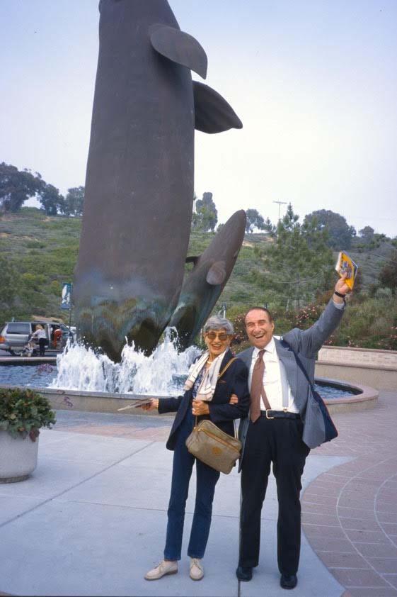 La Jolla, California, 1999: Giancarlo Masini, fondatore e presidente UGIS, con Paola de Paoli