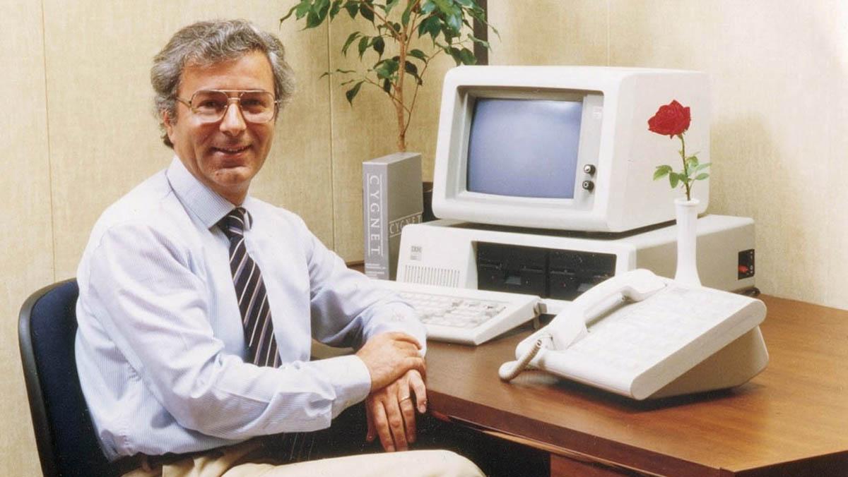 Faggin con un PC IBM