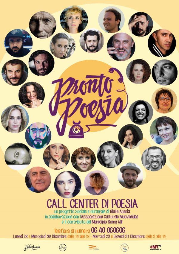 """La locandina di """"Pronto Poesia!"""", call center poetico"""