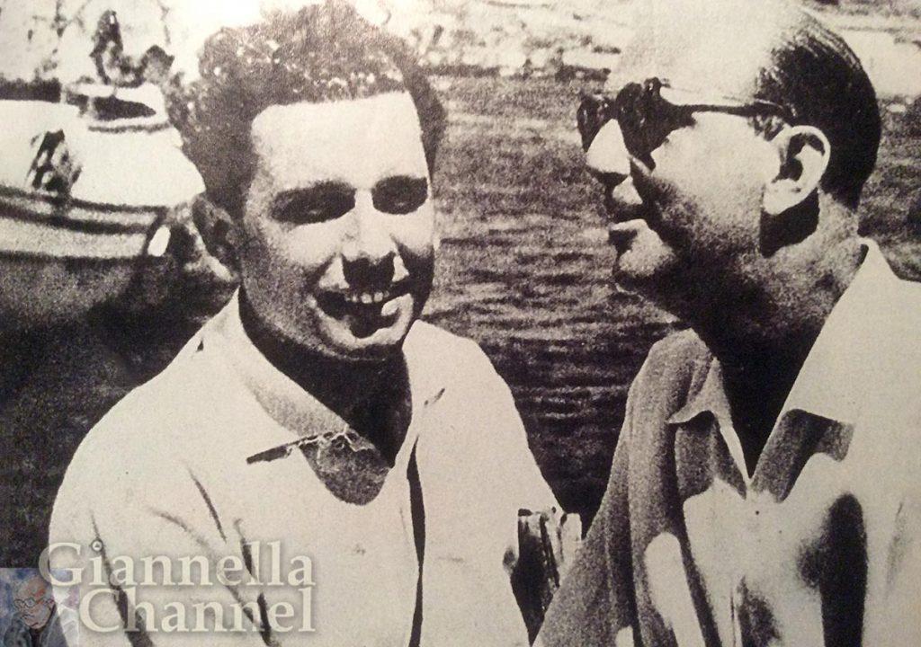 1954 - Mario Cervi e Umberto II di Savoia a Mikonos