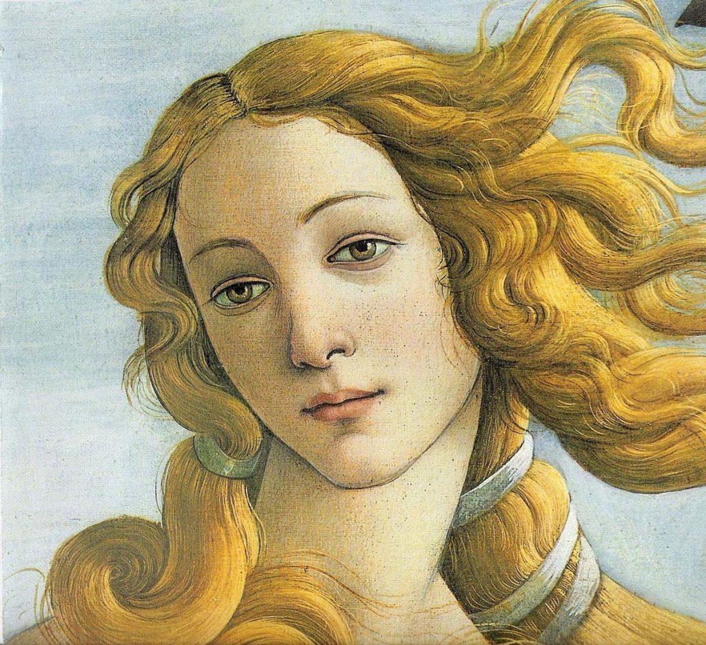 Botticelli - Nascita di Venere - Simonetta Vespucci