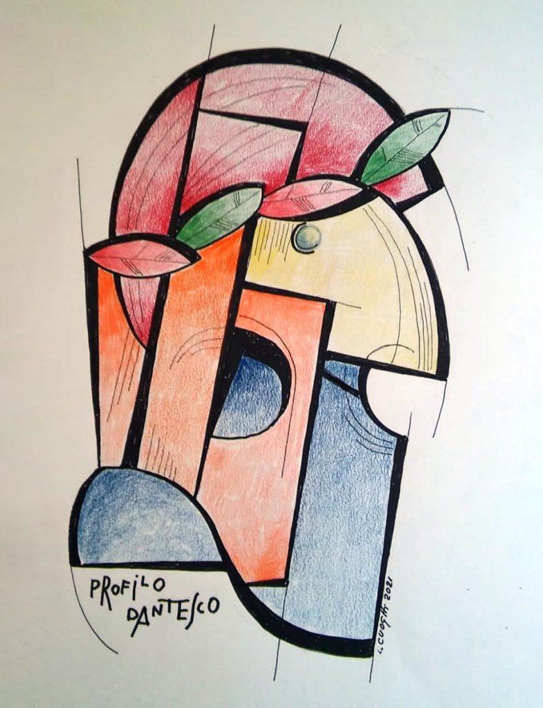 Dante Alighieri visto dall'artista Ilario Cuoghi