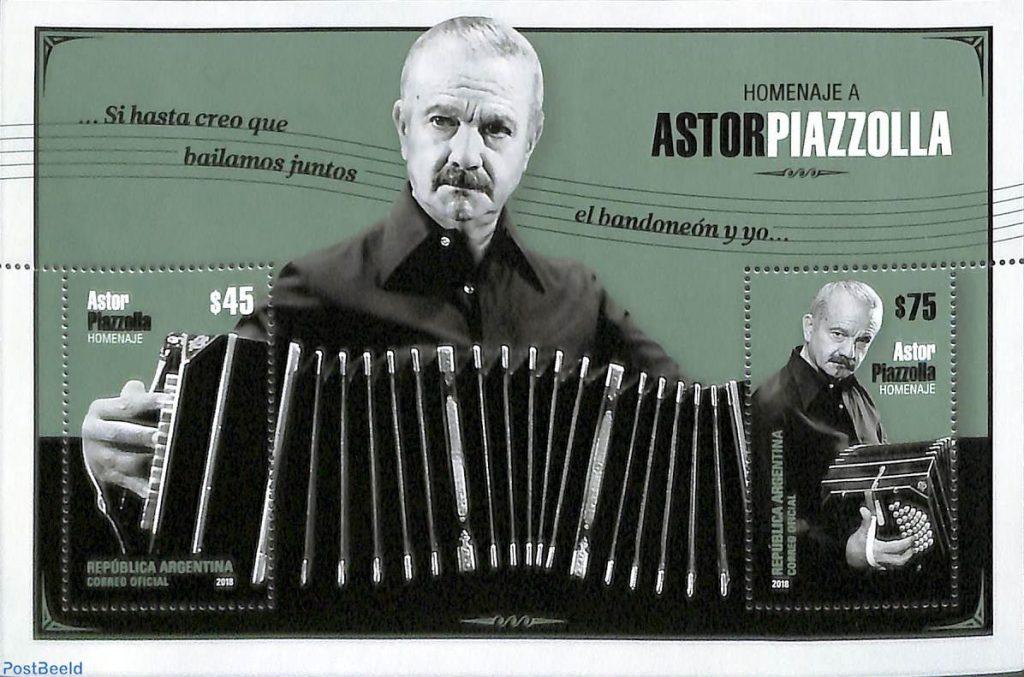 Francobollo Astor Piazzolla centenario