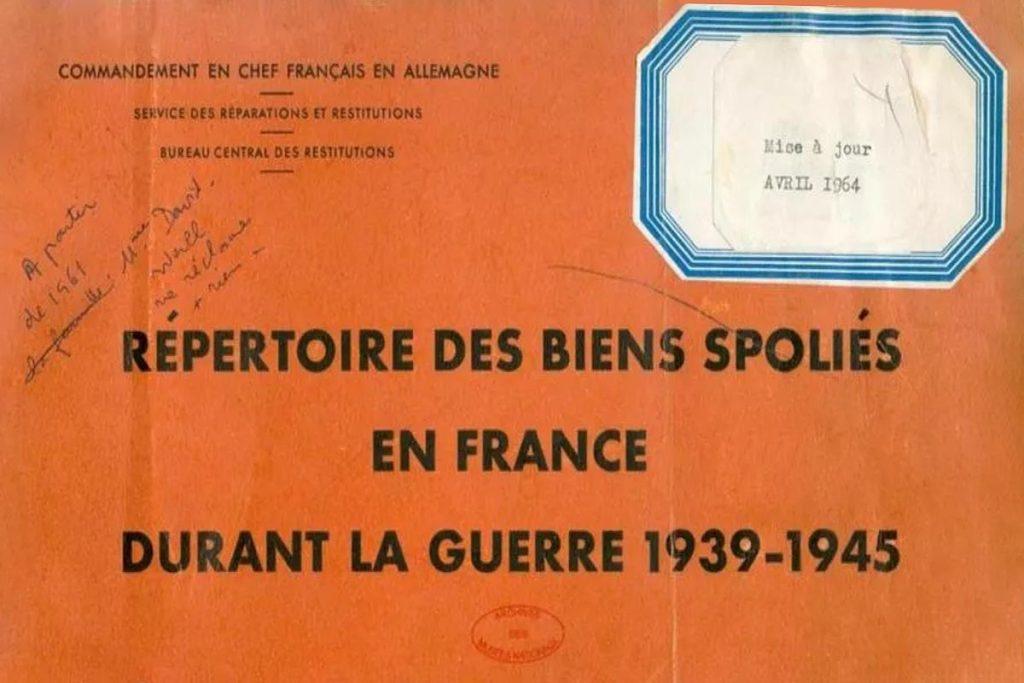 repertorio restituzione beni culturali francia - germania
