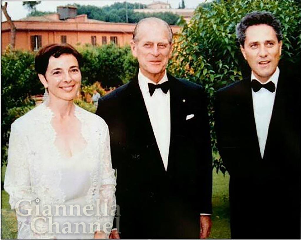 1995 - Principe Filippo con Grazia Francescato, Presidente WWF Italia, e Sindaco Roma Rutelli - evento Bulgari