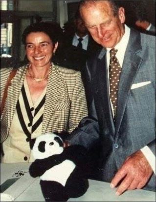 Grazia Francescato, Presidente WWF, con Principe Filippo - 1995