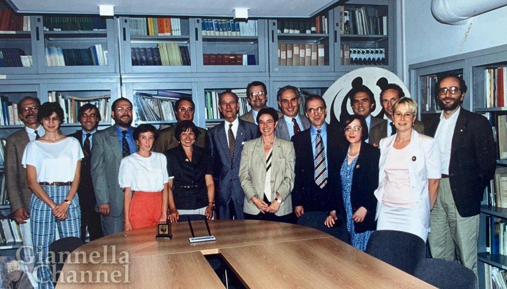 Visita del Principe Filippo presso sede WWF Italia - 1995