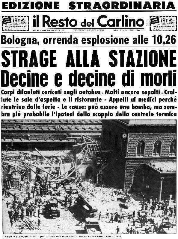 Il Resto del Carlino - Strage di Bologna