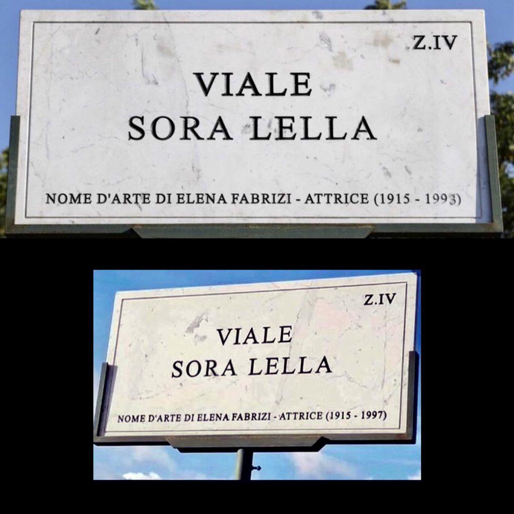 Targhe Sora Lella, giusta e sbagliata - 1993 1997