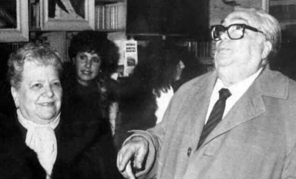 Sora Lella con Aldo Fabrizi