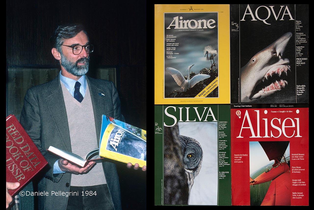 Egidio Gavazzi con le quattro testate da lui create